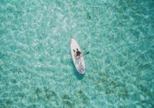 stand sup paddle gonflable eau sport pagaie épaisseur longueur
