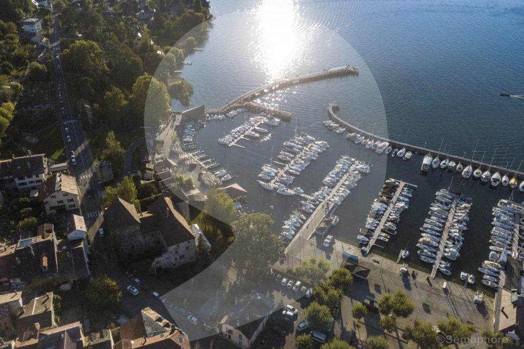lac léman bord thonon les bains port rives alpes france séjour centre