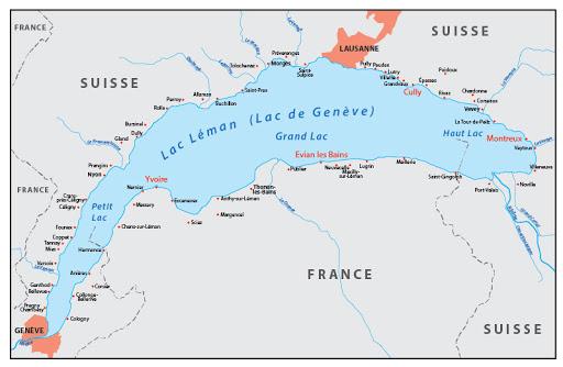lac léman france suisse rhone evian thonon yvoire chablais