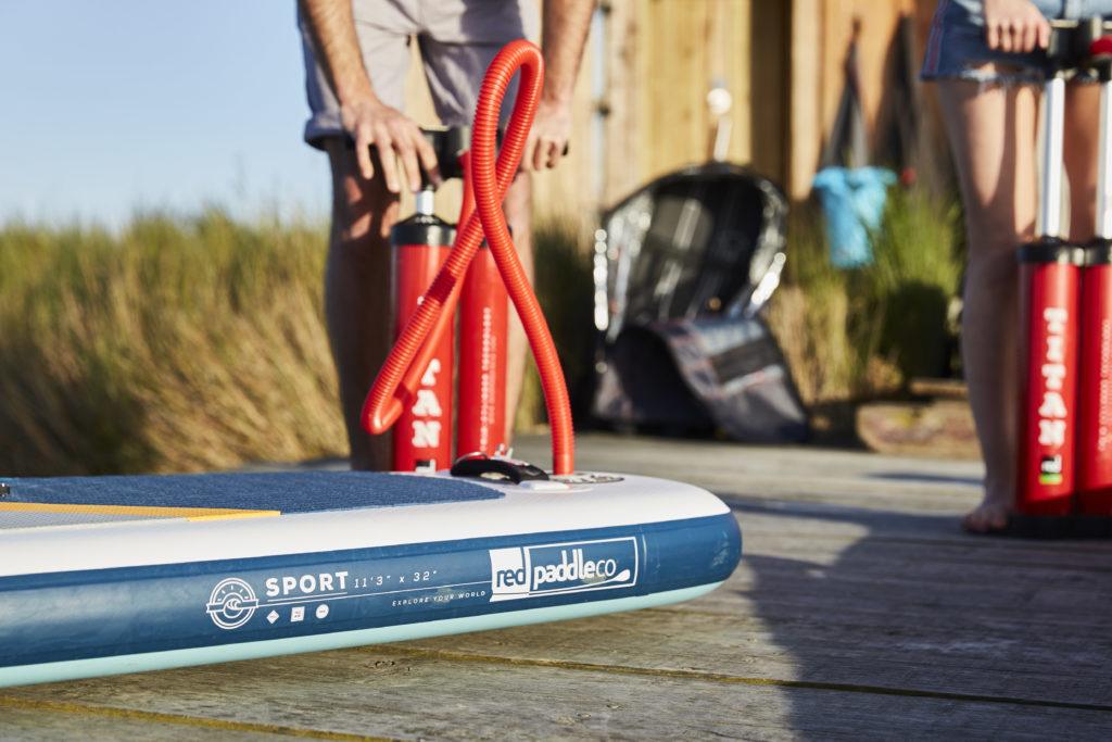 red paddle pompe qualité meilleur accessoires gonflage avis épaisseur poids