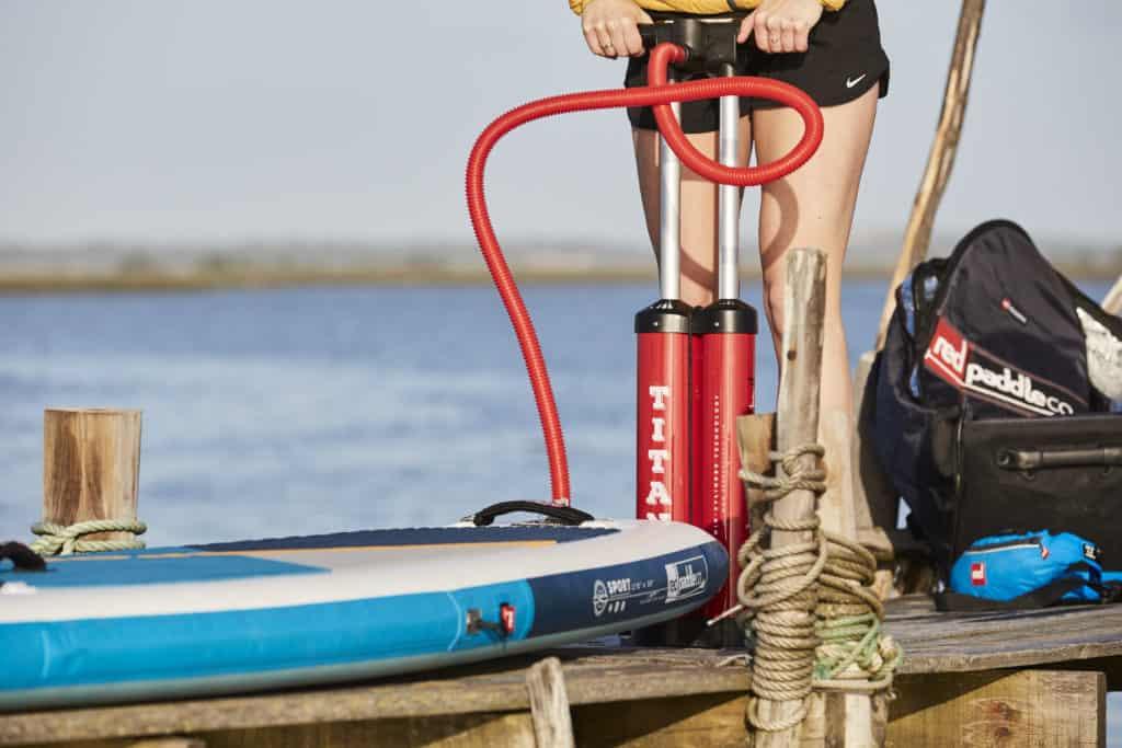 accessoire paddle gonflable pompe double action achat prix stock livraison qualité produit produits