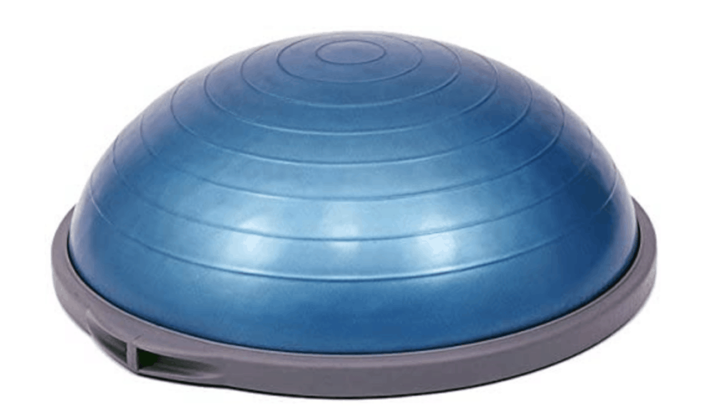 Bosu ball balance trainer
