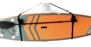 Sangle de portage pour stand up paddle gonflable avec fixation pagaie