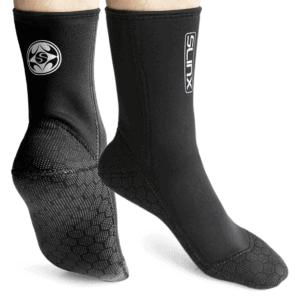 PAWHITS 3mm Chaussettes de Plongée Chaussettes de Combinaison en Néoprène Anti-Derapant Thermique Chaussons Sports Nautique