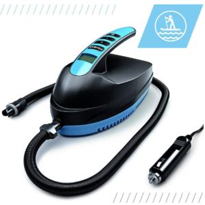 Pompe Électrique Sup Bluefin | Paddle Board Gonflable | Matelas Gonfable | 12V DC | PSI/Bar | Portable | Haute Pression | Compresseur | Gonflage