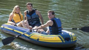 intex bateau challenger 3 personnes pvc gonflable gonflables rames pompes