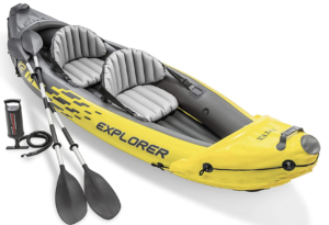 kayak gonflable pagaies pagaie qualité guide pompe bic idéal intex explorer amazon lac rivère mer