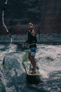 eau wakesurf planche skim gilet vague palonnier corde
