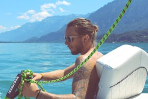 eau bateau palonnier corde rider